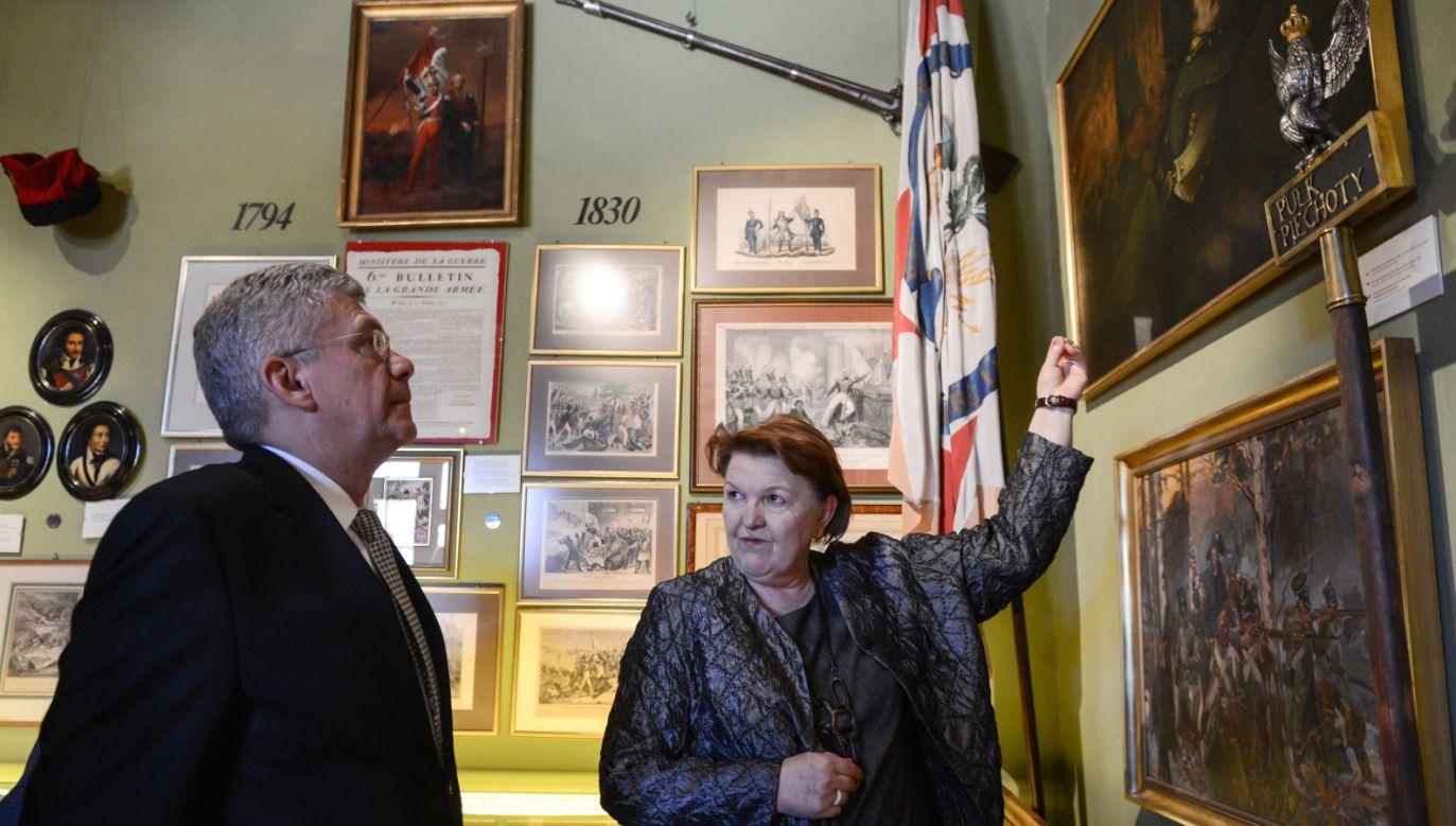 Stanisław Karczewski odwiedził muzeum (fot. PAP/Jakub Kamiński)
