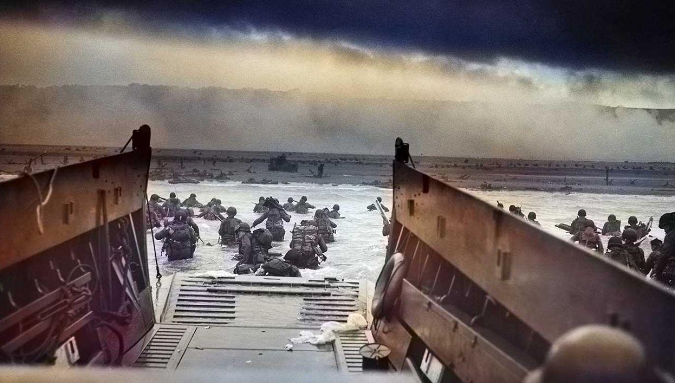 """Lądowanie aliantow w Normandii było częścią operacji """"Overlord"""", otwierającej drugi front w Europie (fot. Smith Collection/Gado/Getty Images)"""