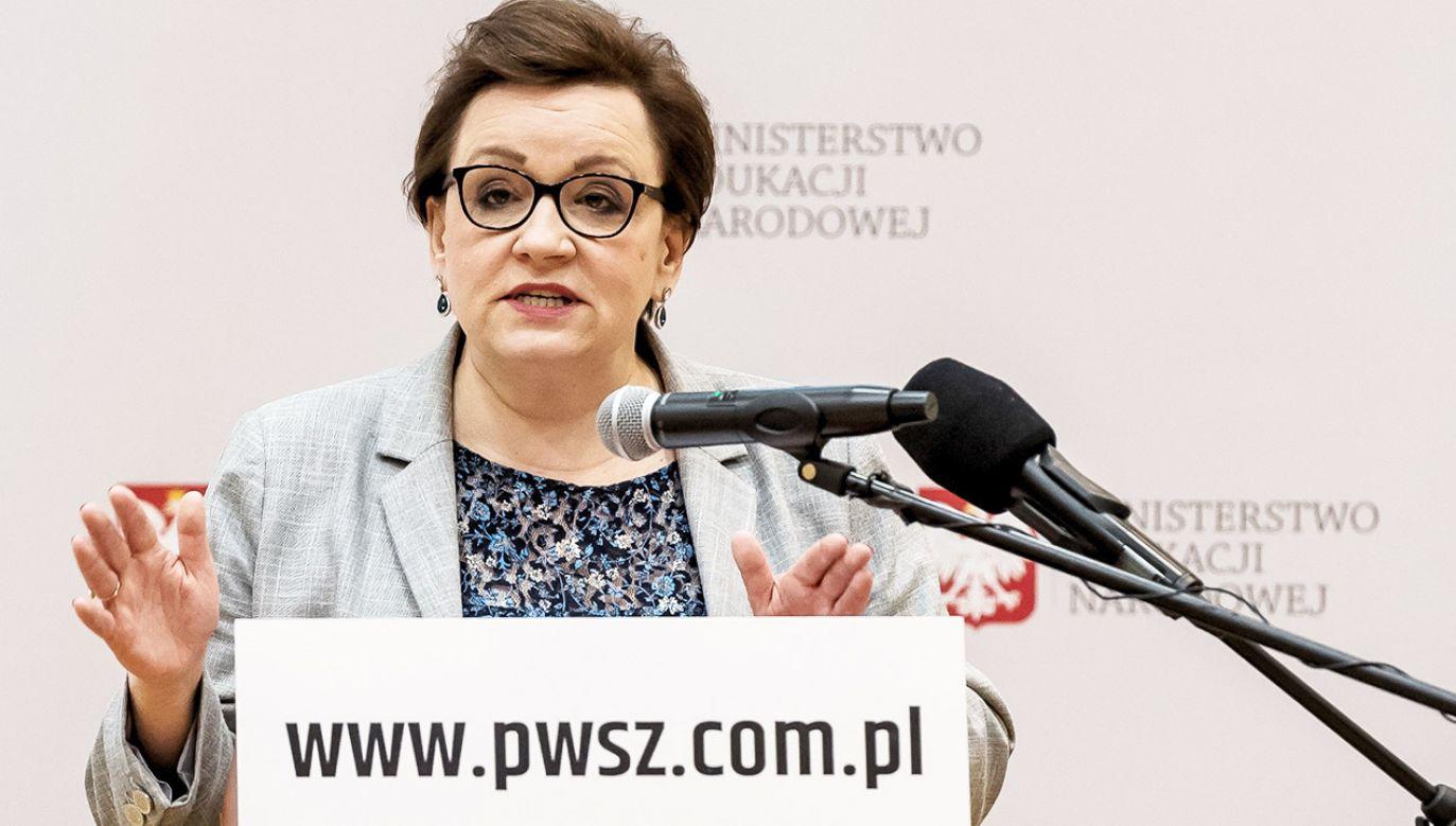 Minister edukacji Anna Zalewska (fot. PAP/Maciej Kulczyński)