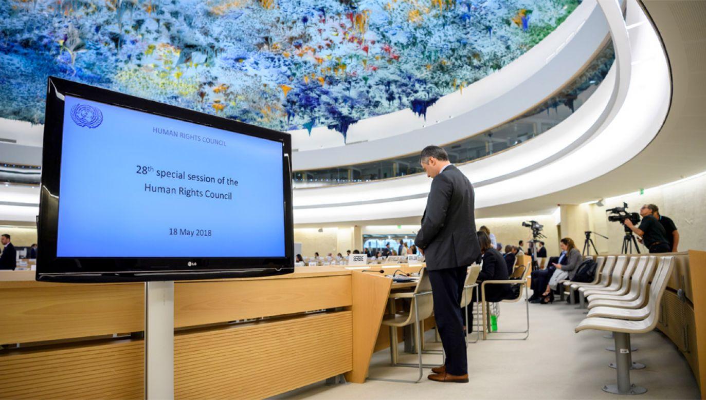Decyzję USA ogłoszono podczas specjalnej sesji Rady Praw Człowieka ONZ (fot. PAP/EPA/SALVATORE DI NOLFI)