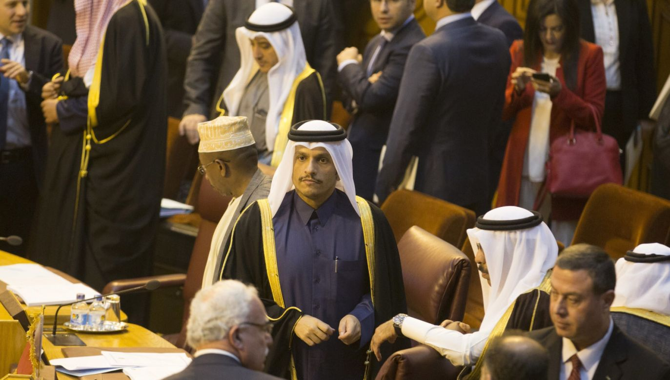 Spotkanie Ligi Arabskiej w Kairze (fot. PAP/EPA/MOHAMED HOSSAM)