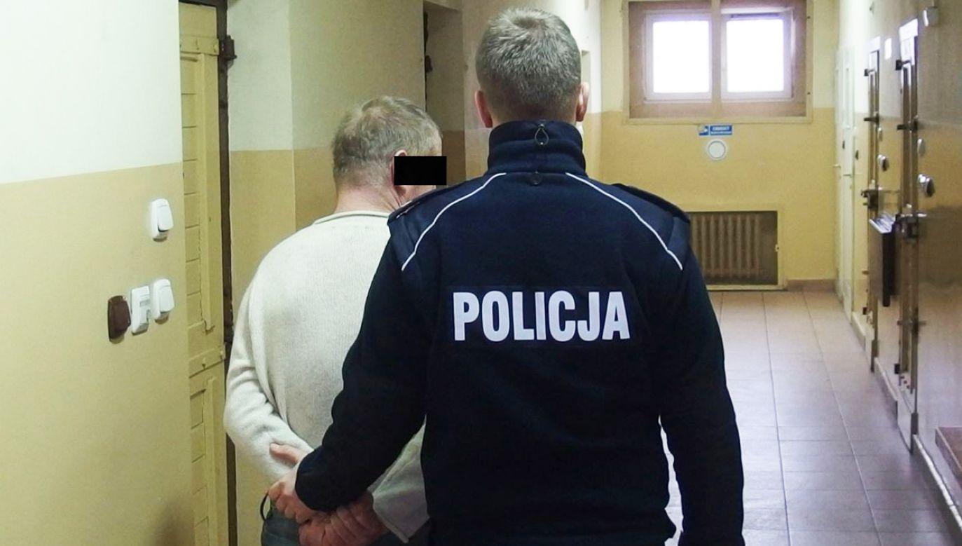 54-latek na dwa miesiące trafił do aresztu (fot. KPP w Inowrocławiu)