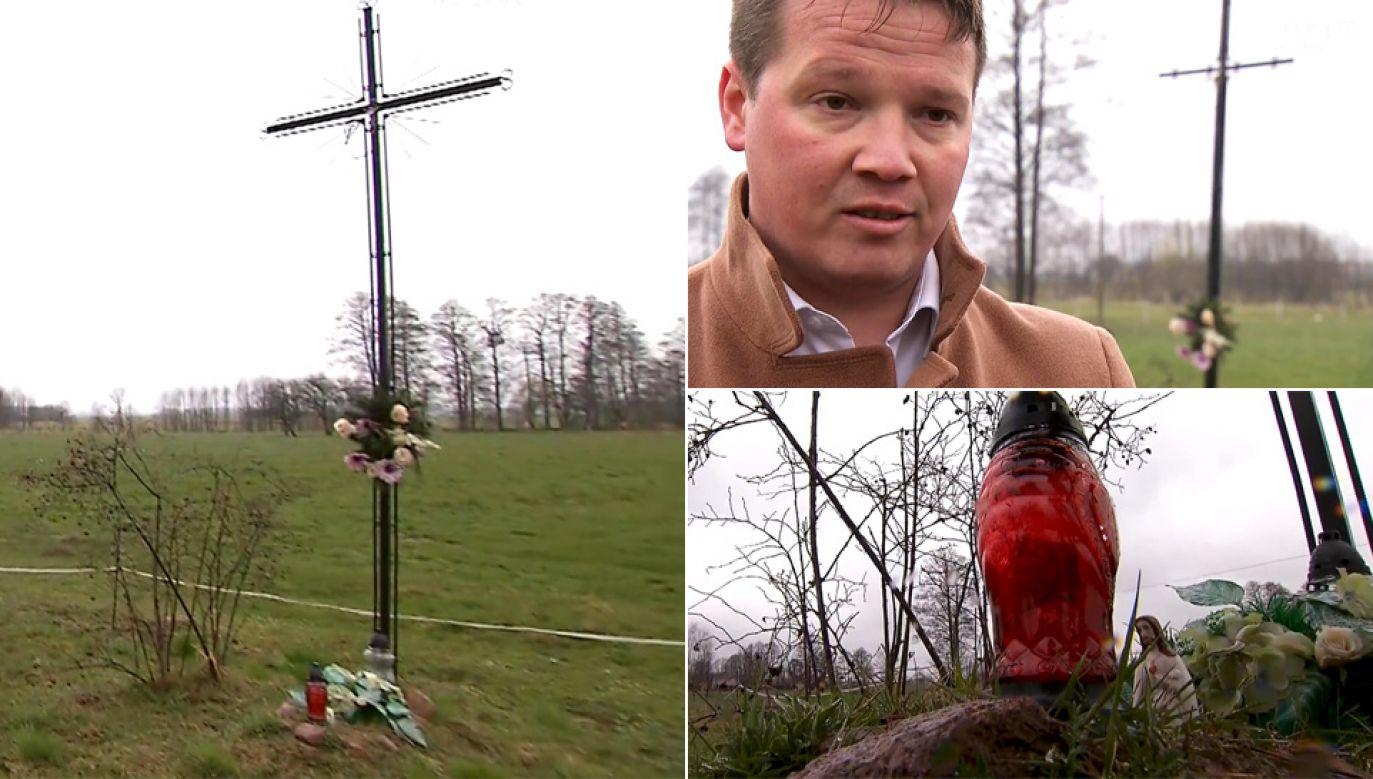 Mieszkańcy wsi Zańków przez lata dbali o bezimienną mogiłę (fot. TVP1)