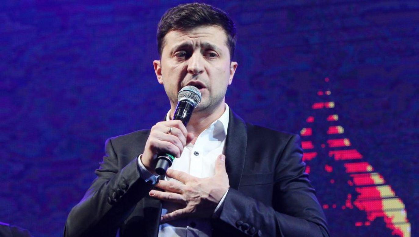 Wołodymyr Zełenski zwyciężył w II turze wyborów prezydenckich na Ukrainie (STR/NurPhoto/Getty Images)