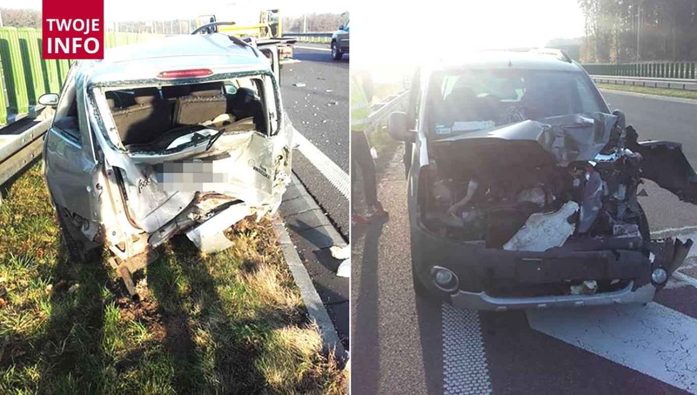 Kierowca spowodował kolizję prawidłowo jadących samochodów (fot. Twoje INFO)