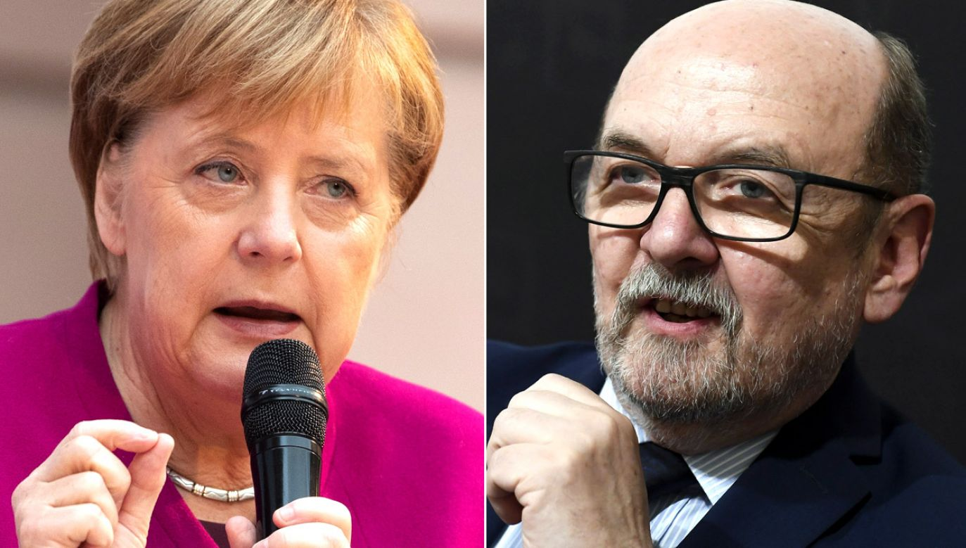Kanclerz Angela Merkel i prof. Ryszard Legutko ostro dyskutowali w Parlamencie Europejskim (fot. PAP/EPA/HAYOUNG JEON/arch.PAP/MTI)