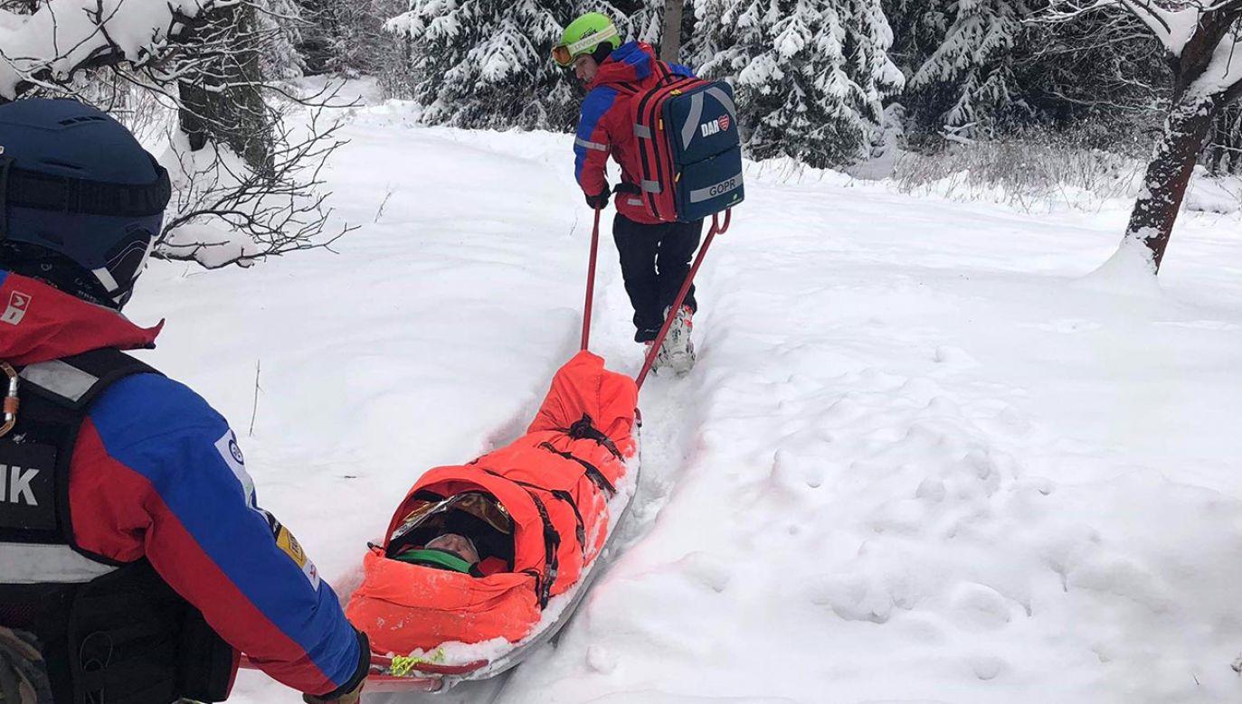 Akcja ratunkowa trwała kilka godzin (fot.FB/GOPR Beskidy - zdjęcie ilustracyjne)