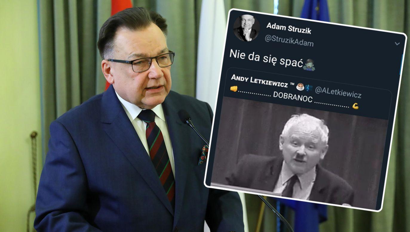 Adam Struzik opublikował w mediach społecznościowych skandaliczną grafikę (fot. arch. PAP/Rafał Guz/TT/Adam Struzik)