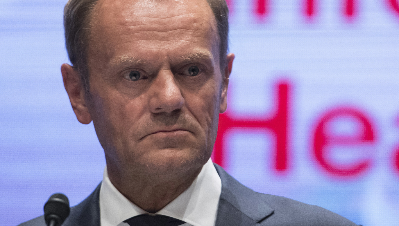 European Council President Donald Tusk during Salzburg summit. Photo: PAP/EPA/ANDREAS SCHAAD