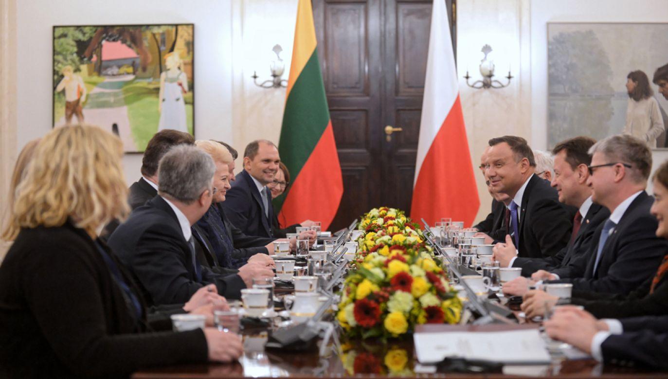 Prezydent Litwy Dalia Grybauskaite przebywa z dwudniową wizytą w Polsce (fot. PAP/Marcin Obara)