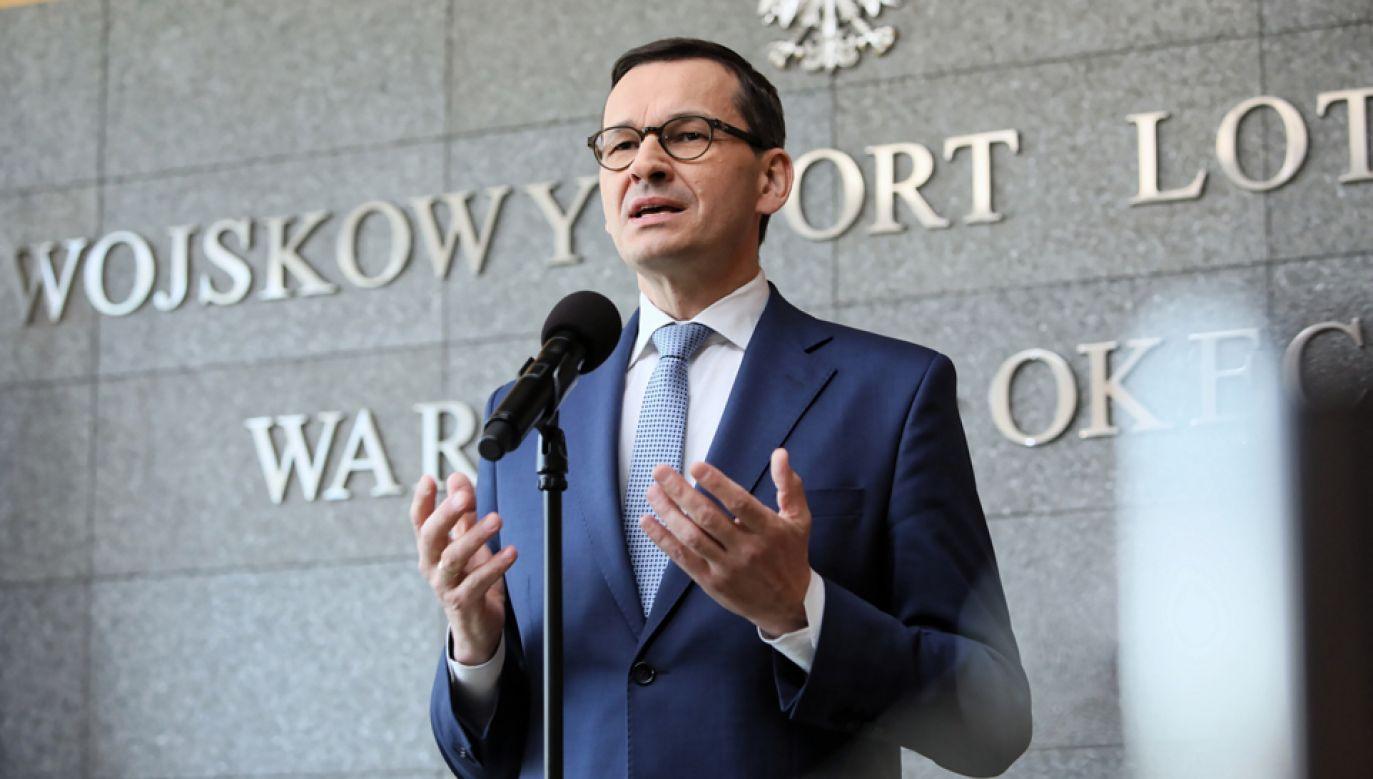 Premier powiedział, że podstawowym celem jest to, by maturzyści mogli zdawać matury (fot. PAP/Leszek Szymański)