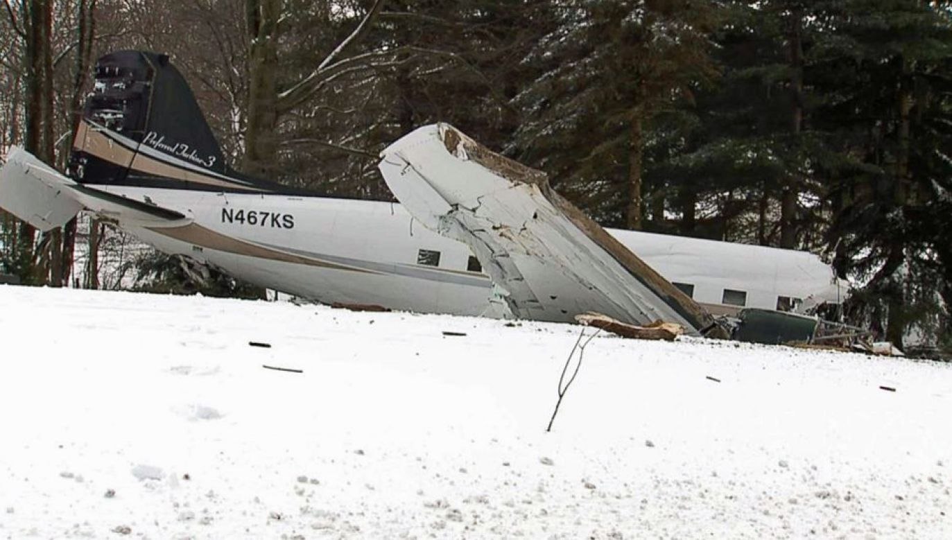 Pilot i drugi pilot zginęli na miejscu (fot. TT/JACDEC)