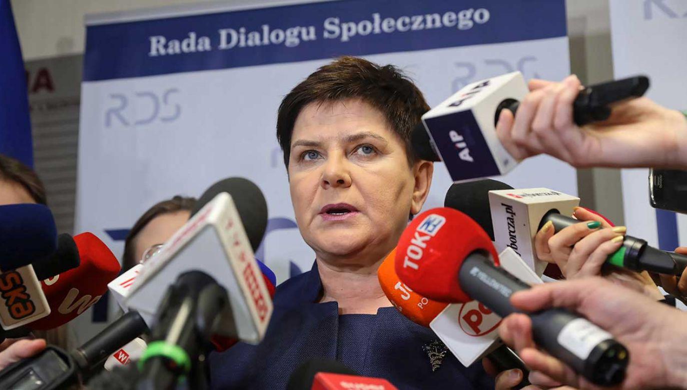 """W warszawskim Centrum Partnerstwa Społecznego """"Dialog"""" odbywa się nadzwyczajne posiedzenie prezydium Rady Dialogu Społecznego dotyczące kryzysu w oświacie (fot. PAP/Tomasz Gzell)"""