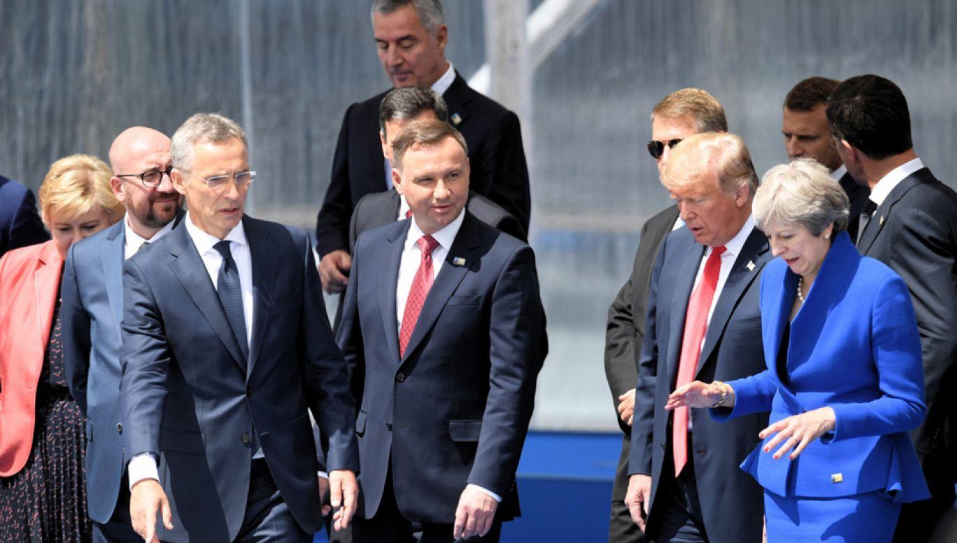 Prezydent Andrzej Duda reprezentuje Polskę na szczycie NATO w Brukseli (fot. PAP/Radek Pietruszka)