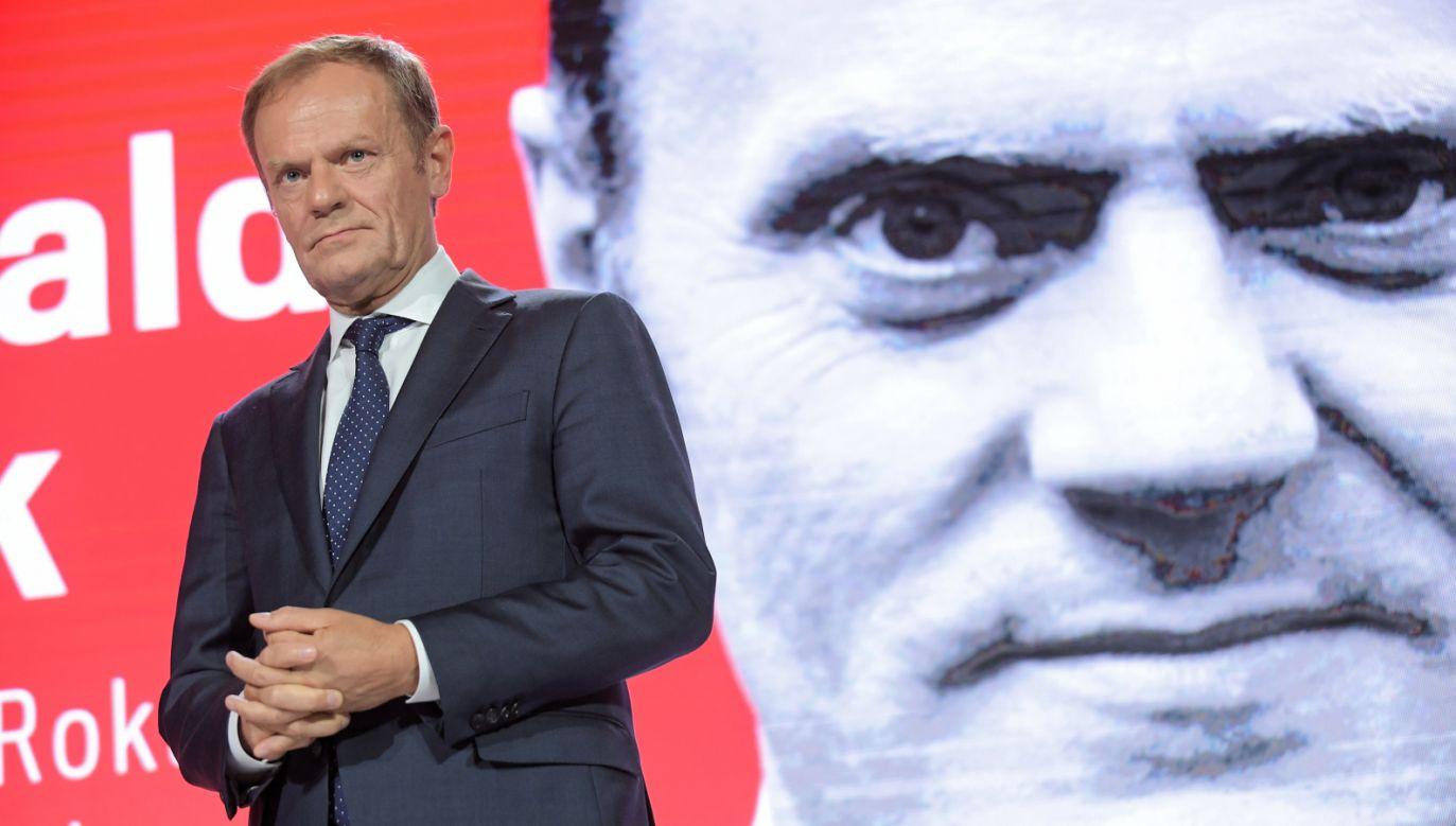 Przewodniczący RE Donald Tusk podczas gali z okazji 30-lecia