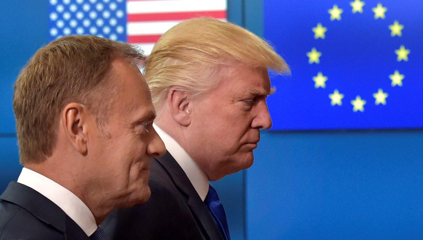 Jednym z wątków wywiadu z Donaldem Tuskiem była polityka zagraniczna prezydenta Stanów Zjednoczonych (fot. REUTERS/Eric Vidal)