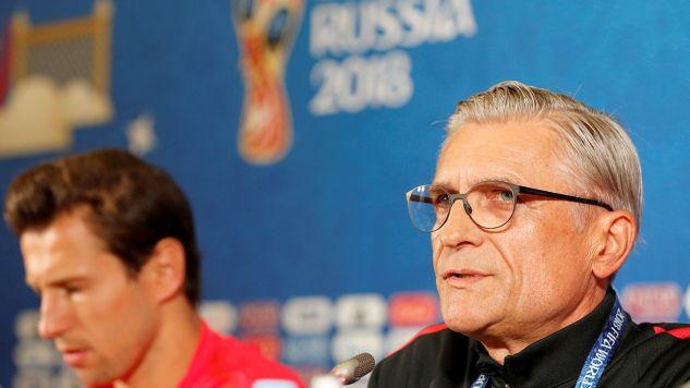 Ze stanowiskiem trenera reprezentacji Polski pożegnał się po mundialu Adam Nawałka, którego zastąpił Jerzy Brzęczek (fot. REUTERS/John Sibley)