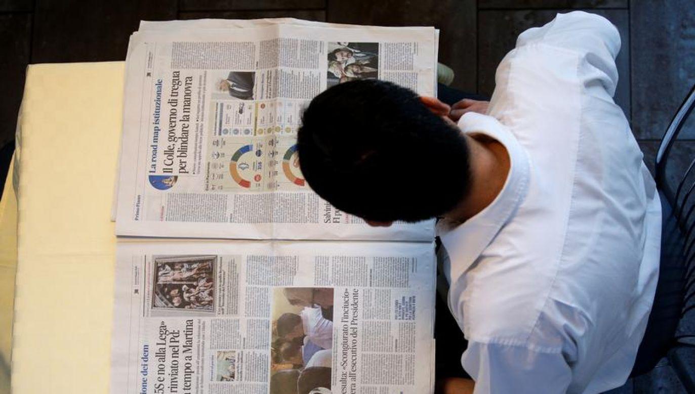 Prawie 95 proc. mieszkańców Włoch codziennie korzysta z internetu (fot. REUTERSMax Rossi)