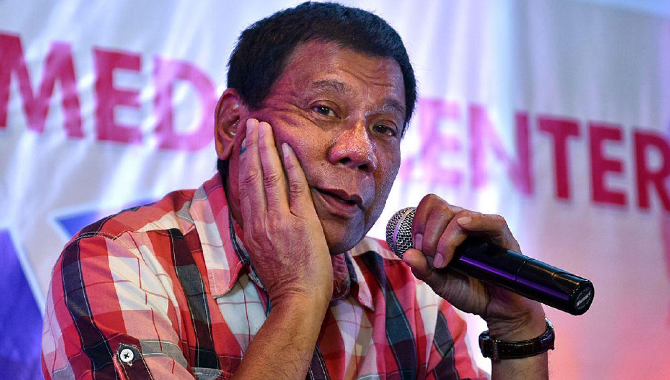 Rodrigo Duterte ma wiele za uszami (fot. Jes Aznar/Getty Images)