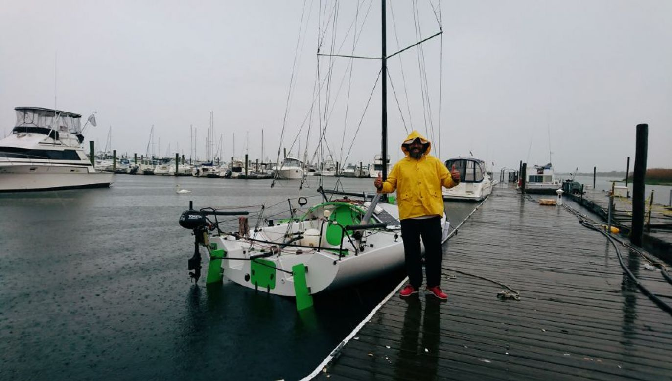 A Polish sailor has set off from New York to sail to the UK to promote Poland's Righteous Among the Nations. Photo: facebook.com/beeleensky