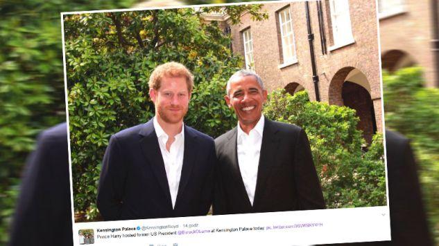 Książę Harry i Barack Obama (fot. twitter.com/Kensington Palace)