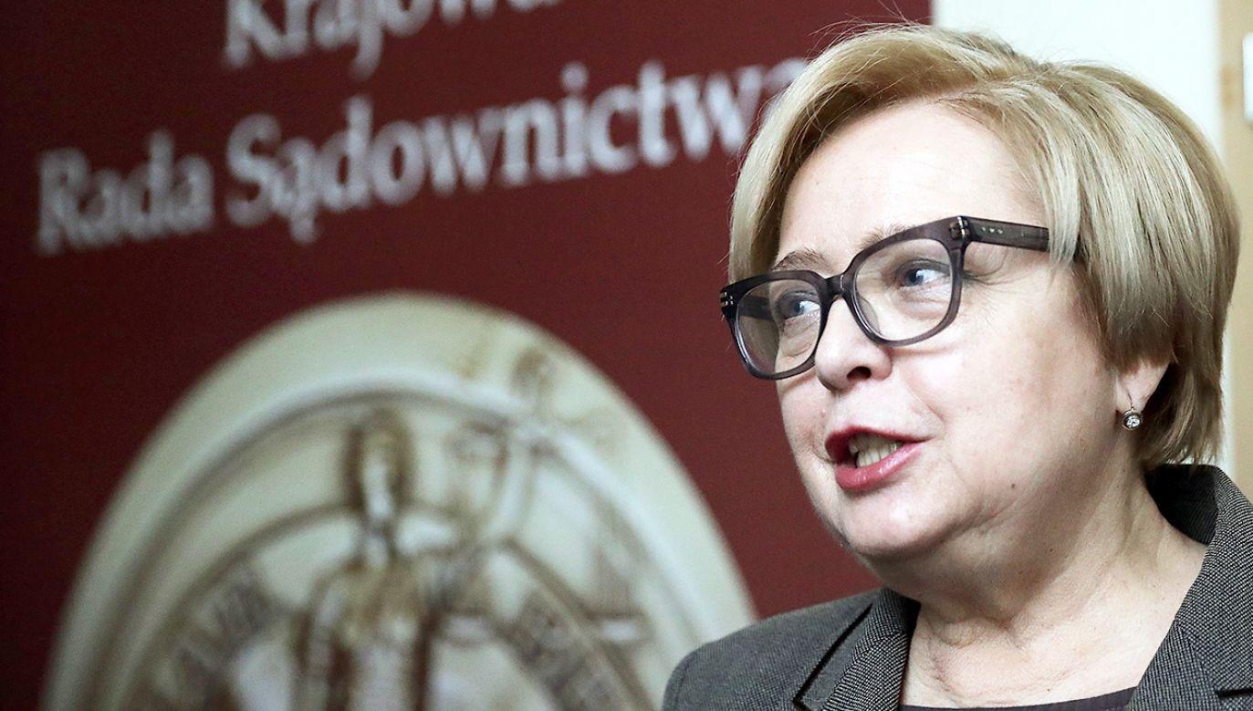 Pierwsza Prezes Sądu Najwyższego, przewodnicząca KRS, prof. Małgorzata Gersdorf  (fot. PAP/Tomasz Gzell)