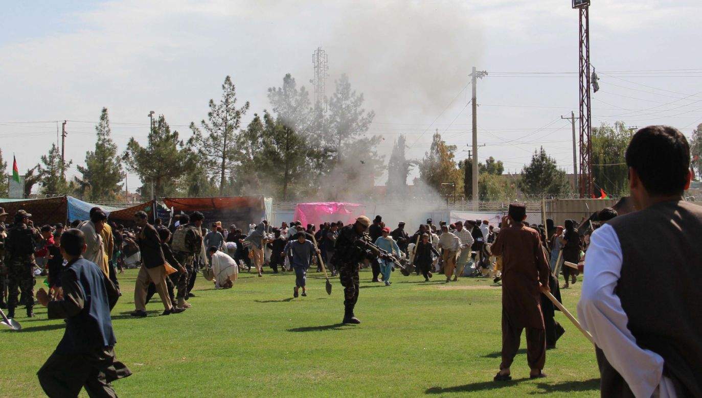 Prawdopodobnie sprawcami ataku byli afgańscy talibowie (fot. PAP/ EPA/WATAN YAR)