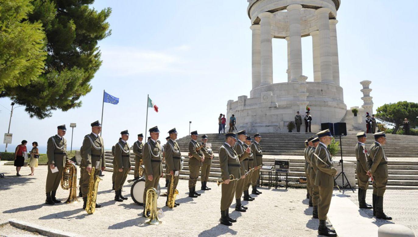 Uroczystości w Ankonie na 70. rocznicę bitwy (fot. Urząd do Spraw Kombatantów i Osób Represjonowanych)
