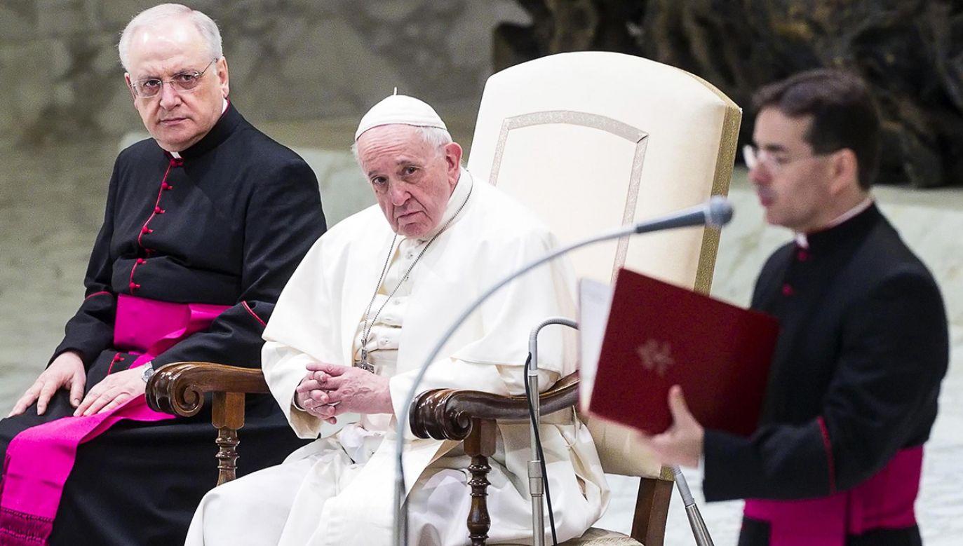 Papież prosił Polaków, aby nie zapominali o ludziach, którzy potrzebują sprawiedliwości i zrozumienia (fot. Franco Origlia/Getty Images)