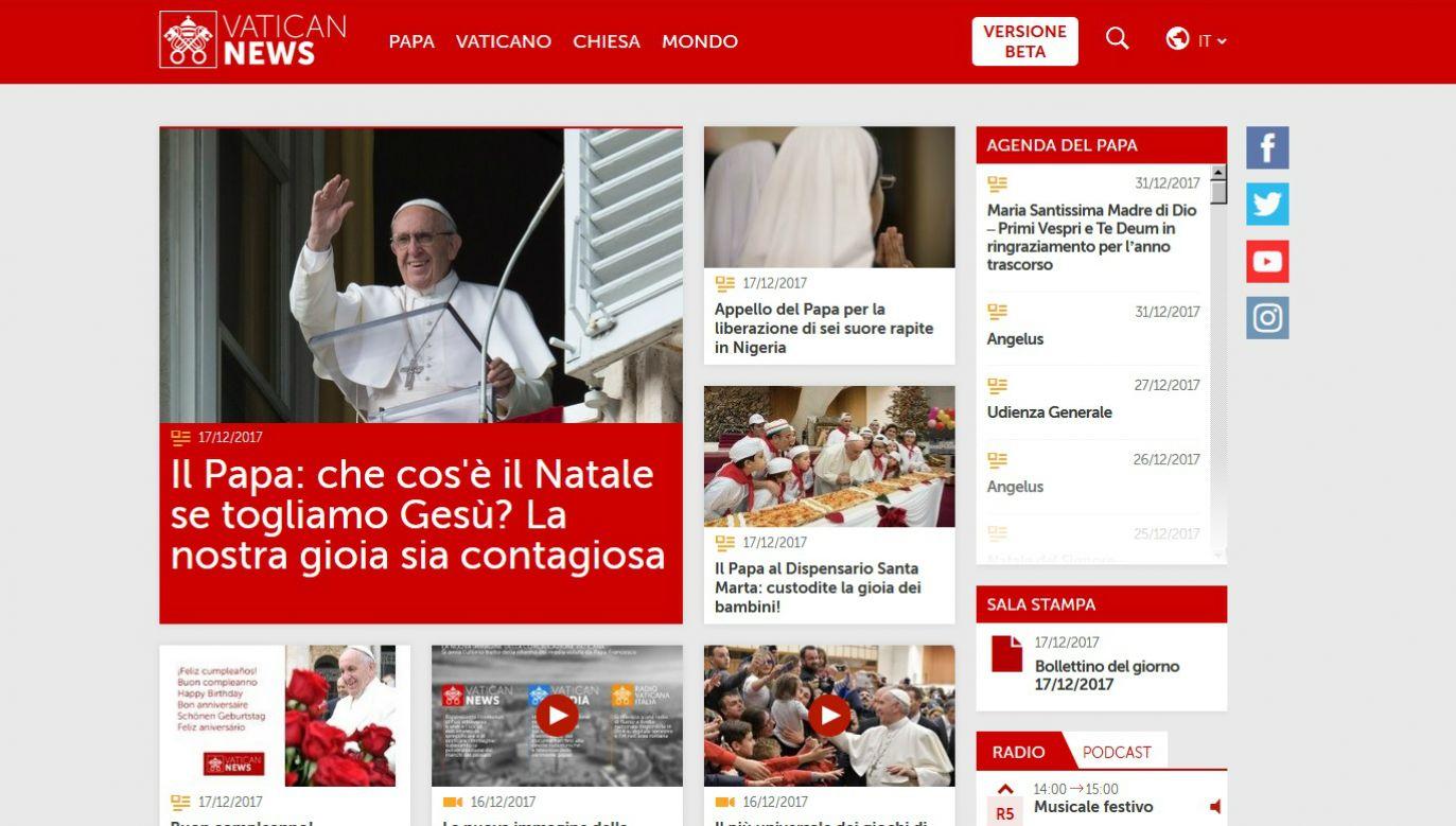 Potal www.vaticannews.va rozpoczął działalność jak na razie w fazie testowej.