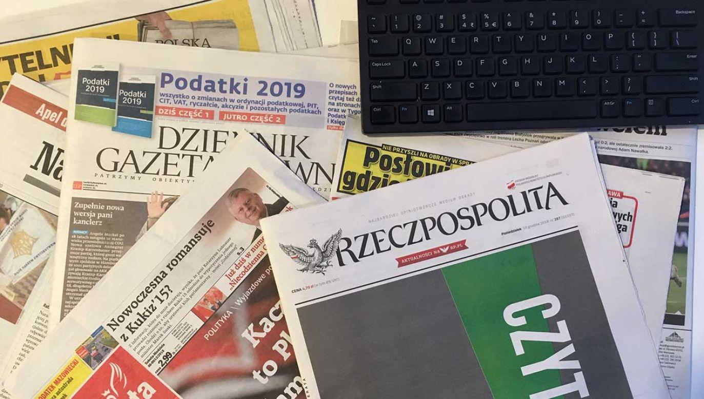 Przegląd prasy codziennie w TVP (fot. portal tvp.info)