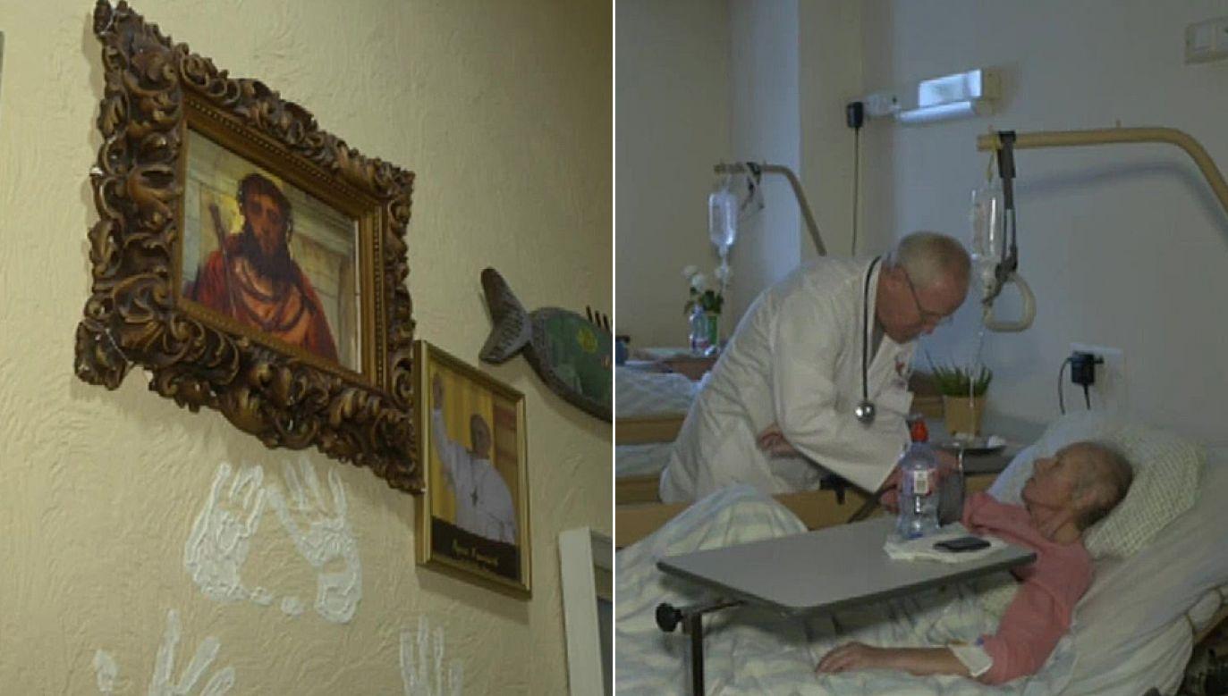 Hospicjum bł. Ks. Michała Sopoćki w Wilnie to wyjątkowa placówka (fot. TVP Info)