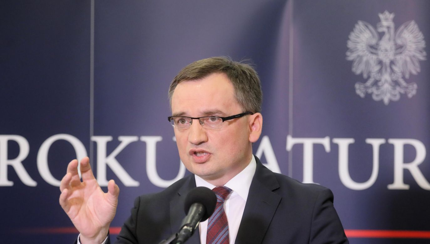 The General Prosecutor Zbigniew Ziobro at a press conference on GetBack case. Photo: PAP/Paweł Supernak