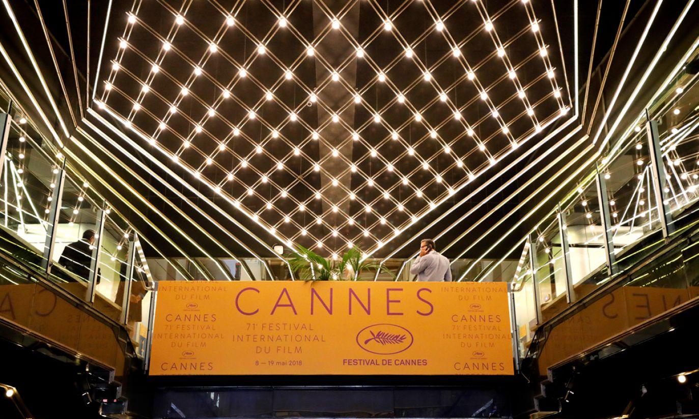Palais des Festivals podczas 71. corocznego Festiwalu Filmowego w Cannes (fot. PAP/EPA/SEBASTIEN NOGIER)