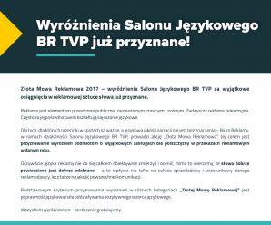 """Wyróżnienia """"Złota Mowa Reklamowa"""" za 2017 rok rozdane!"""