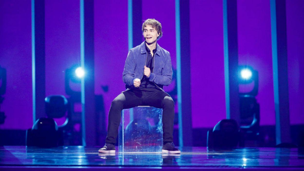 """""""That's How You Write A Song"""" to propozycja Alexandra Rybaka. Reprezentant Norwegii wypadł rewelacyjnie (fot. Andreas Putting/eurovision.tv)"""