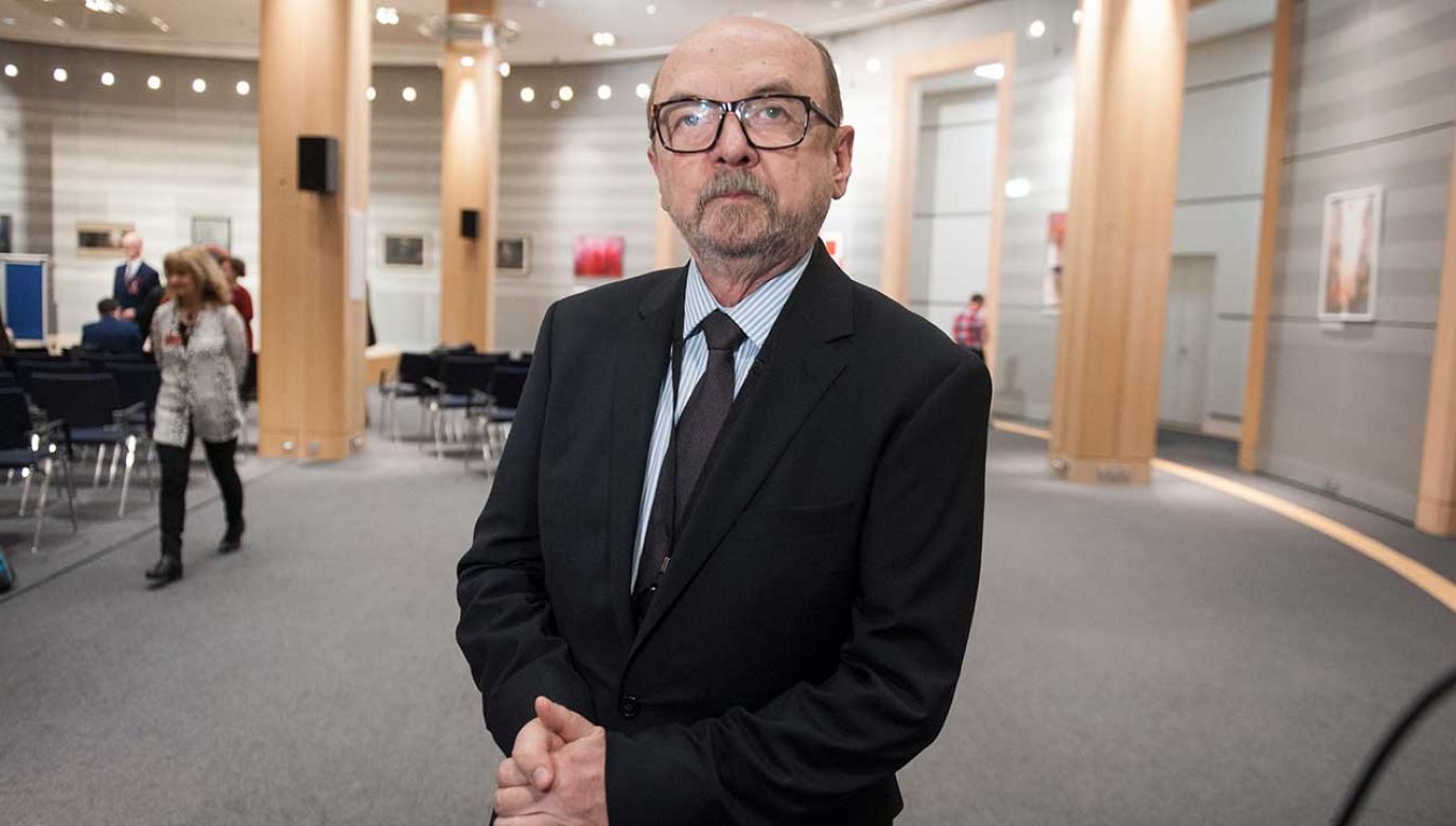 – Na amerykańskich uczelniach jest coraz mniej wolności słowa – ocenia profesor Legutko (fot. arch. PAP/WiktorDąbkowski)