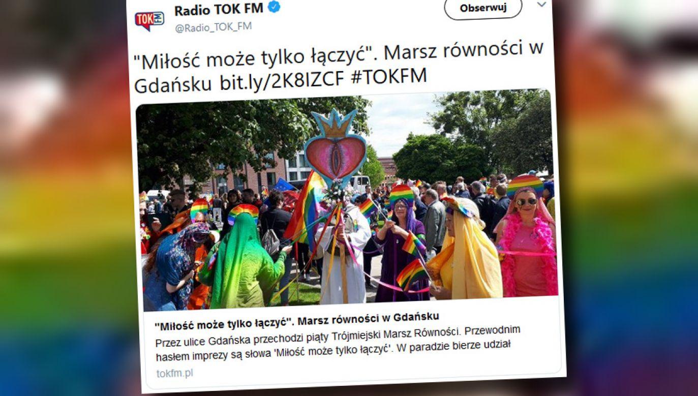 """Impreza odbyła się pod hasłem """"Miłość może tylko łączyć"""" (fot. TT/Radio Tok FM)"""