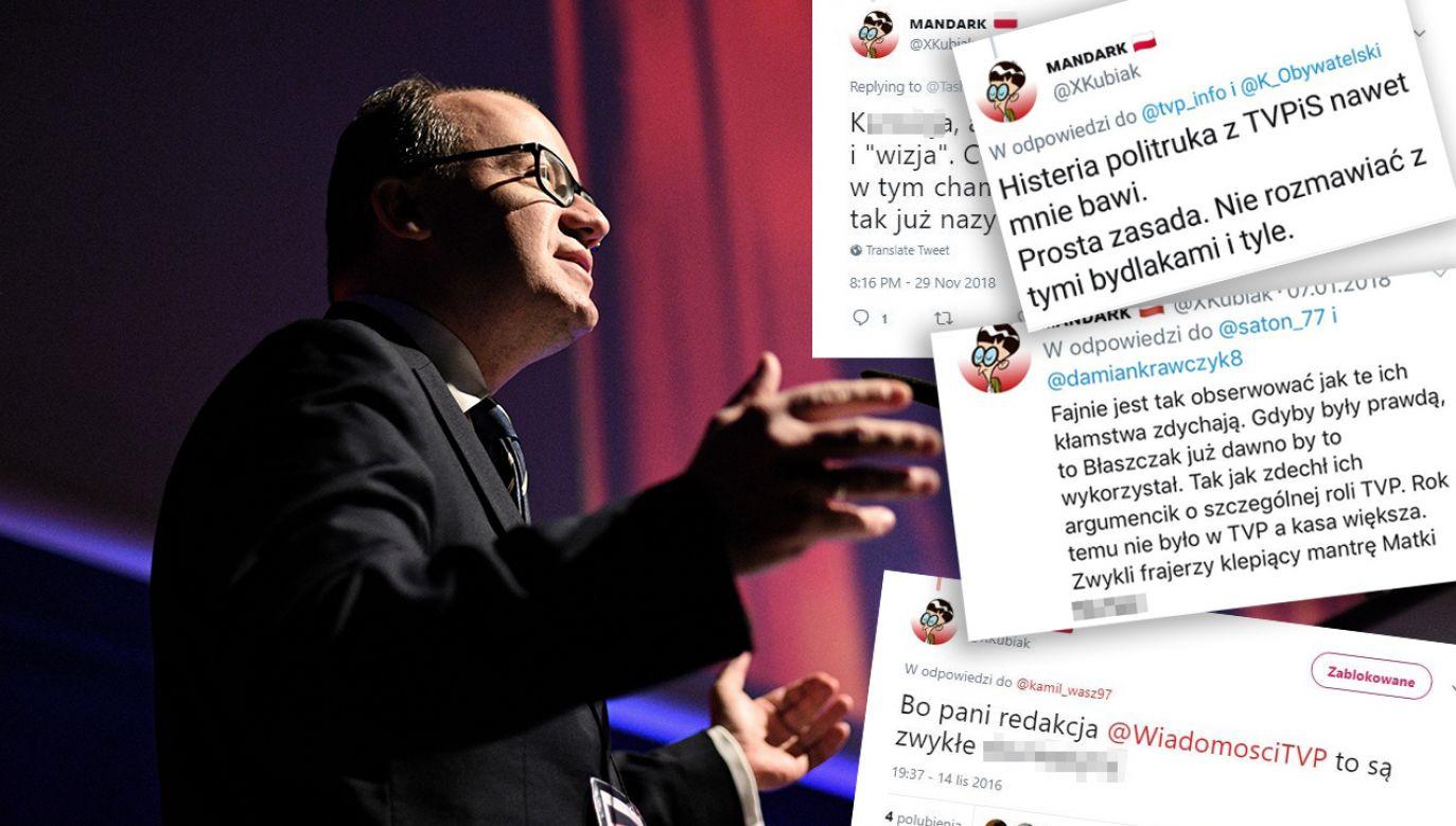 Internauta stosuje mowę nienawiści, a przedstawia się jako ofiara cenzury (fot. arch. PAP/Jacek Turczyk/twitter)