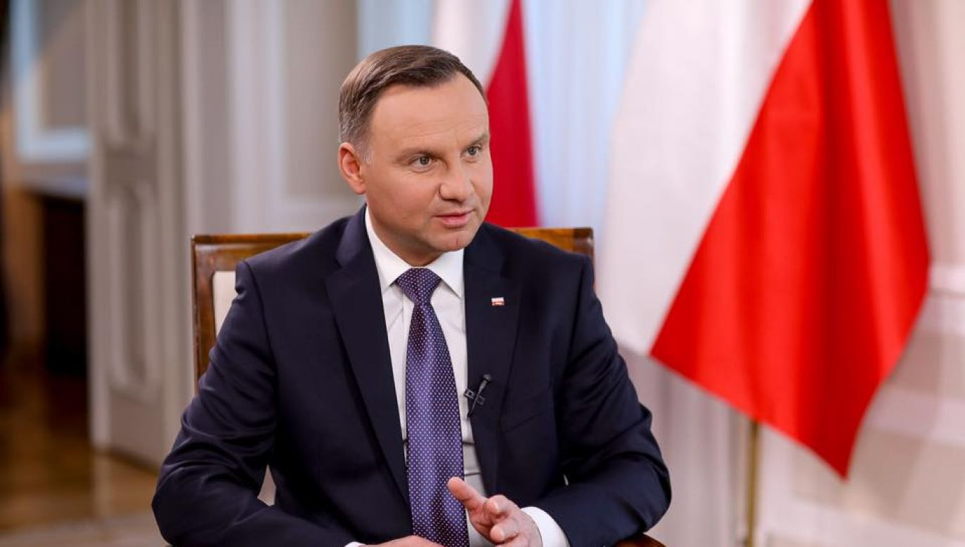 President Andrzej Duda said on Wednesday that it is simply not credible to say that Russia is not an aggressor. Photo: Jakub Szymczuk/facebook.com/prezydentpl/