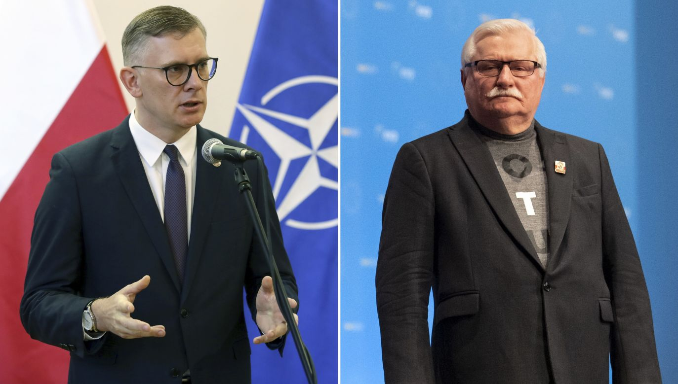 Sławomir Cenckiewicz i Lech Wałęsa (fot. arch. PAP/Tomasz Gzell, PAP/EPA/Lukas Barth-Tuttas)