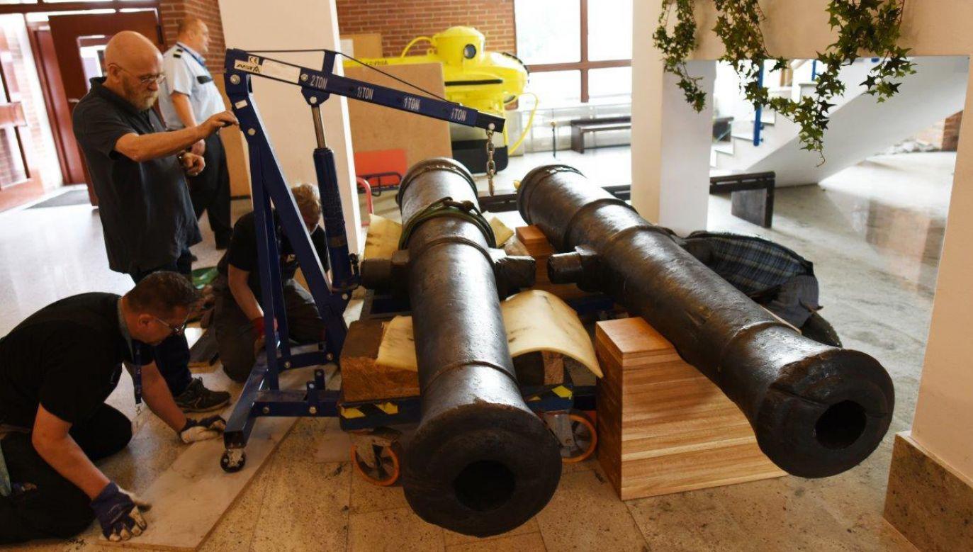 Działa mogą pochodzić z francuskiego transportowego statku kaperskiego, zdobytego przez Szwedów (fot. fb/Narodowe Muzeum Morskie w Gdańsku)