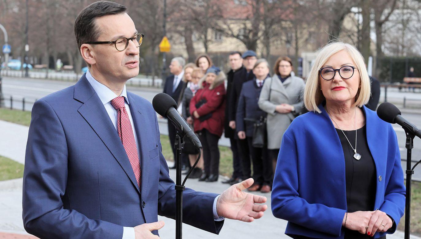 Premier zainaugurował akcję informacyjną #NowaPiątka (fot. PAP/Paweł Supernak)