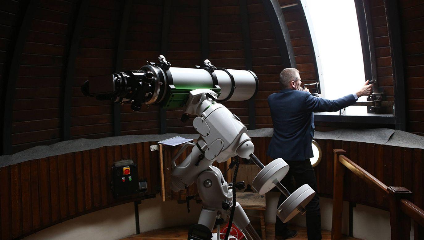 Obserwatorium astronomiczne w Liceum Ogólnokształcącym im. Marszałka Stanisława Małachowskiego w Płocku (fot. arch. PAPMarcin Bednarski)