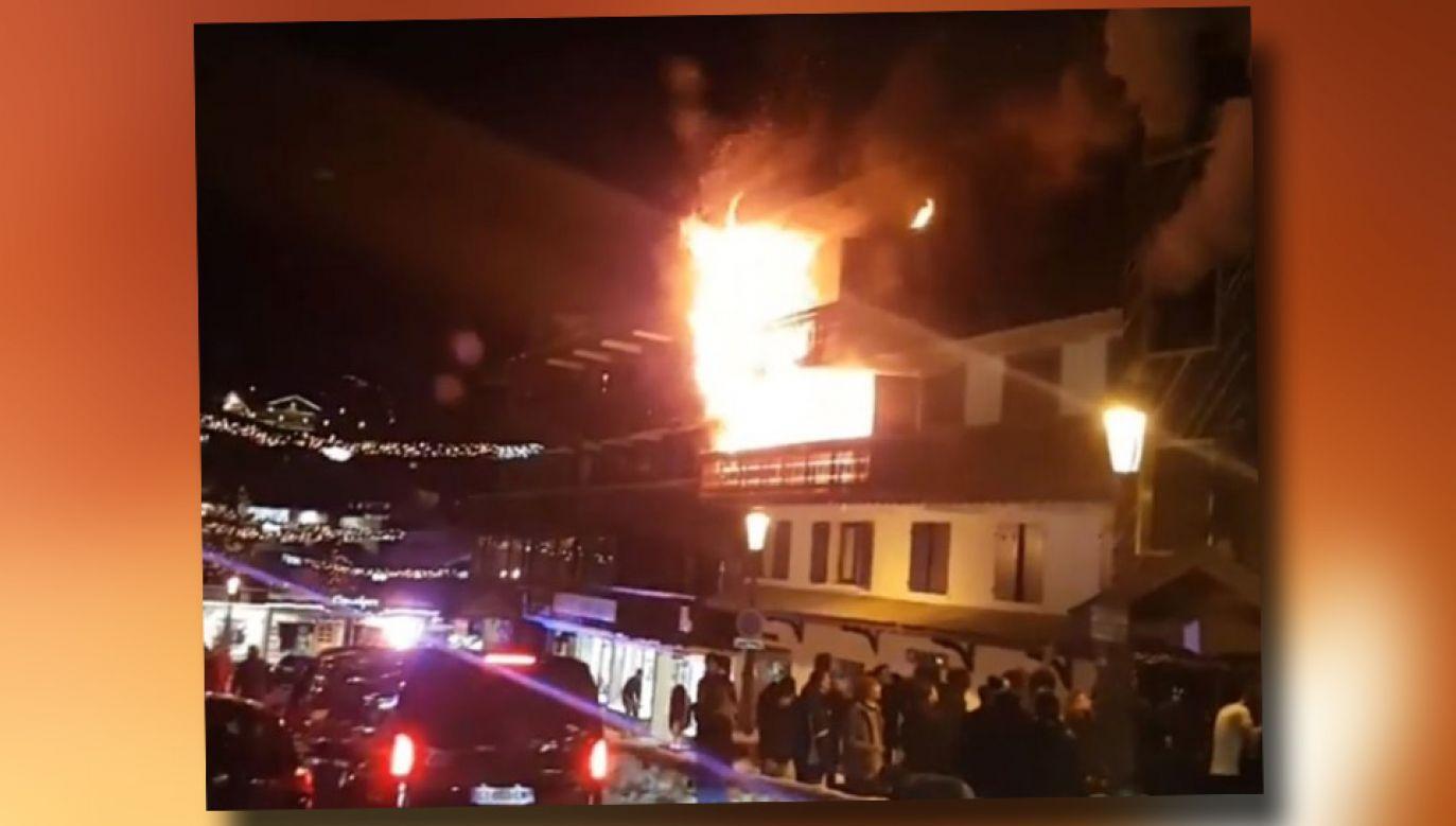 Ewakuowano kilkudziesięciu gości hotelu (fot. TT/PlanetSKI Snow News)
