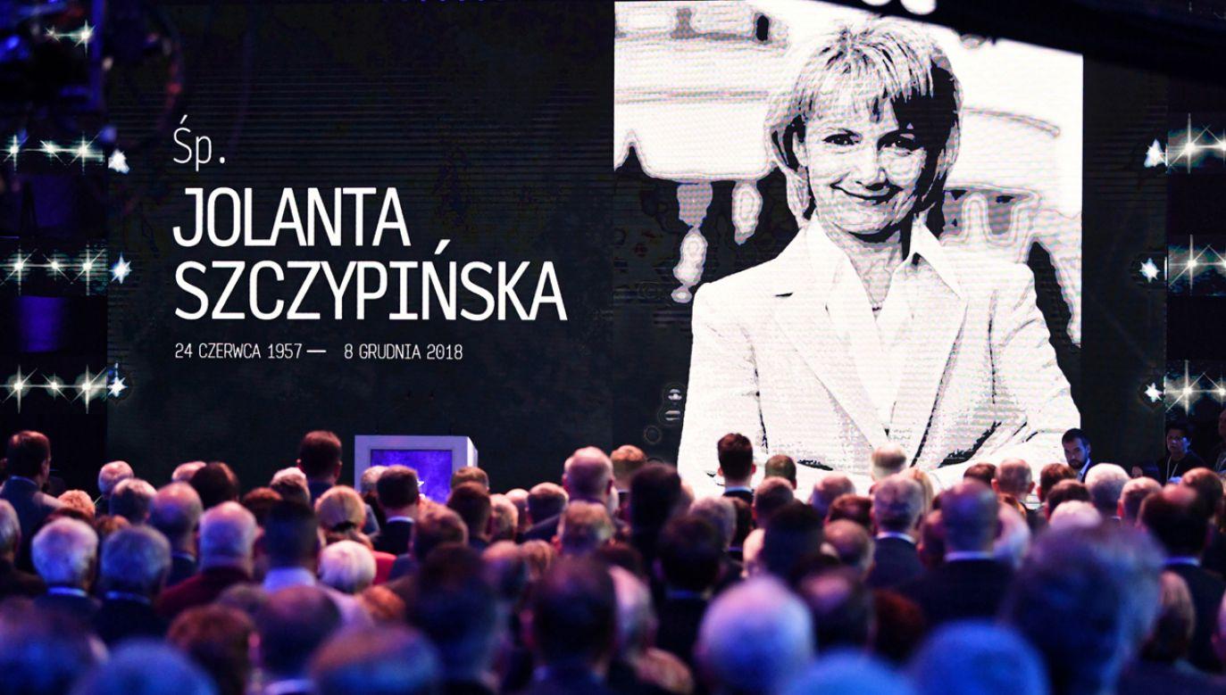 Jolanta Szczypińska została wspomniana na konwencji PiS w Szeligach (fot. PAP/Bartłomiej Zborowski)