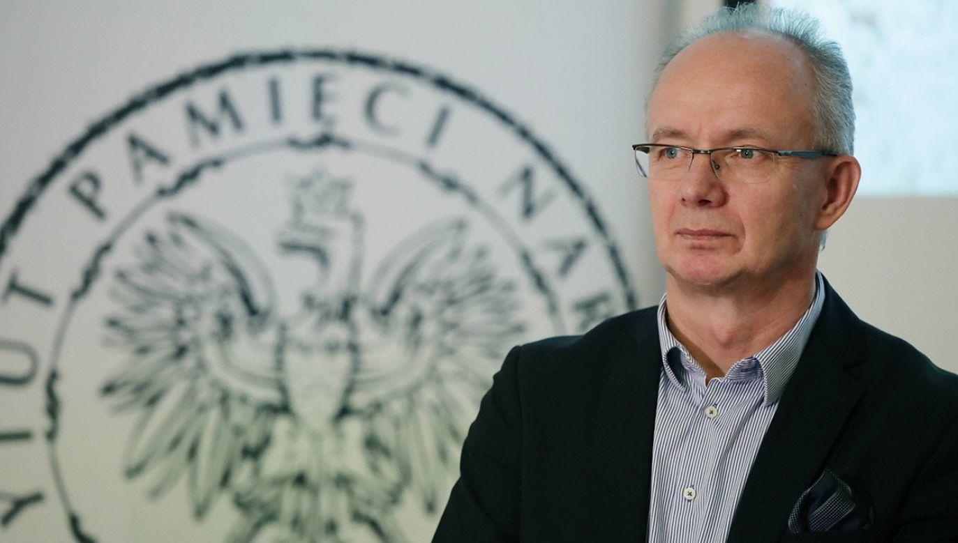Wiceprezes IPN Krzysztof Szwagrzyk (fot. arch. PAP/Tomasz Gzell)