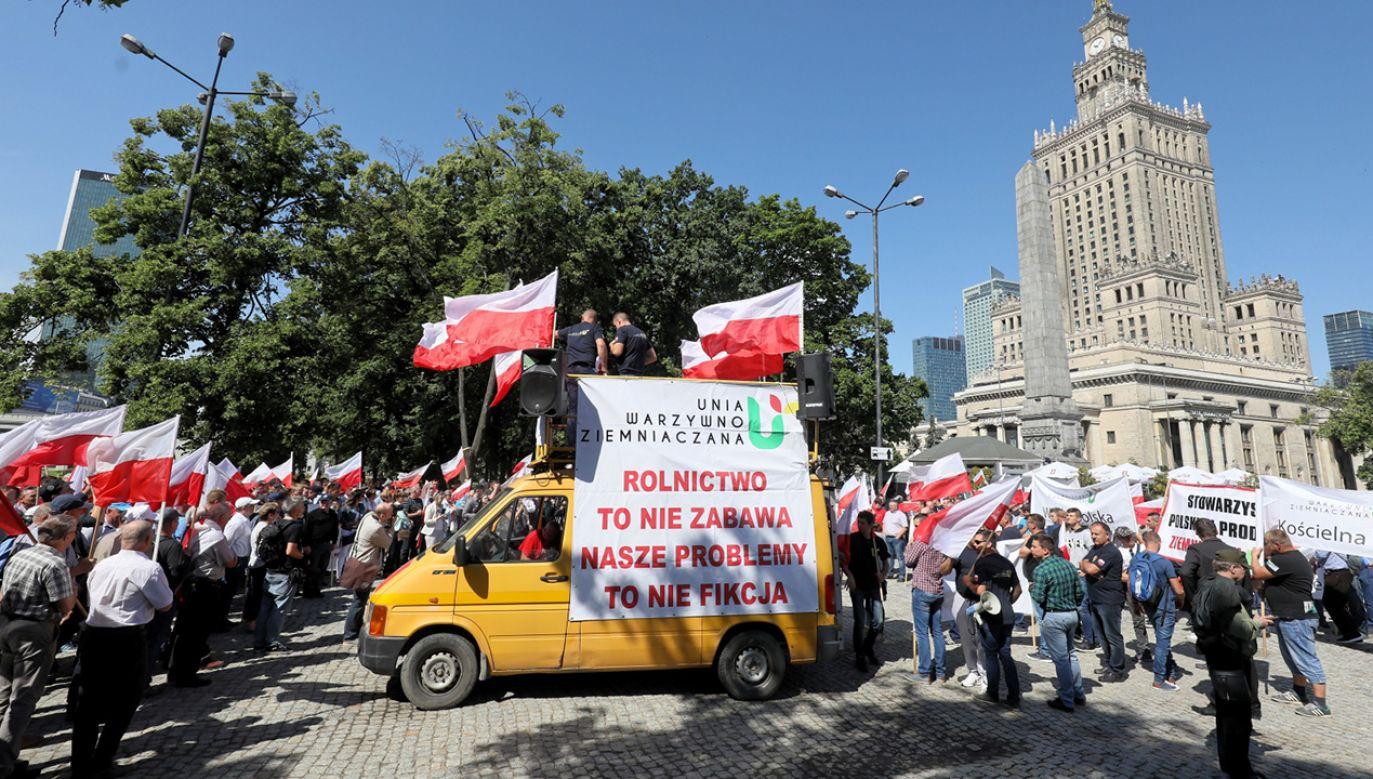 Protest rolników w Warszawie (fot. PAP/Paweł Supernak)