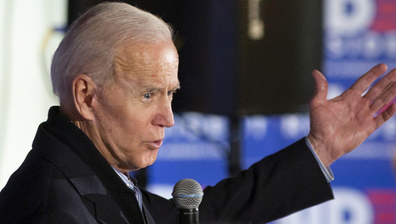 Joe Biden wystartuje w wyborach prezydenckich (fot. PAP/EPA/CJ GUNTHER)