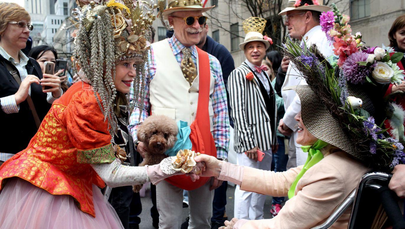 Parada Wielkanocna w Nowym Jorku to jednocześnie rewia kapeluszy (fot. Yana Paskova/Getty Images)